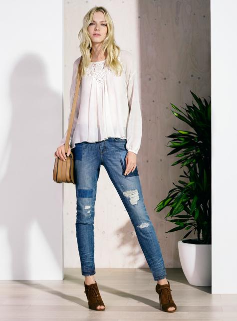 Новый модный LookBook весна-лето 2016 Karen Millen - джинсы с прорезями.
