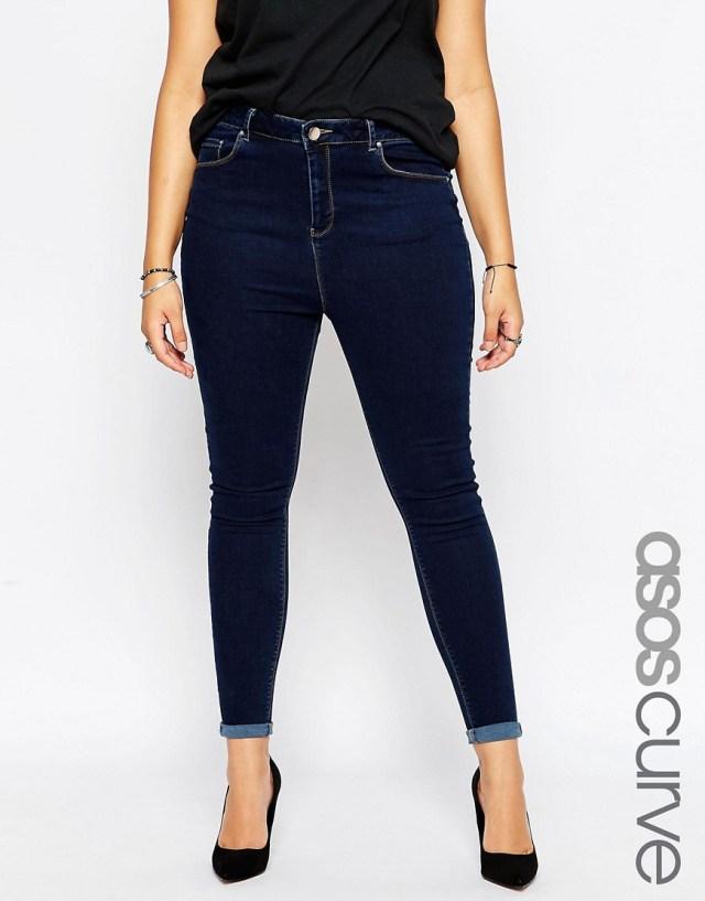 Мода для полных весна-лето 2016 - узкие джинсы.