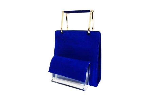 Большие сумки: модные тренды - сумка передний карман которой сделан из прозрачного материала из коллекции Hugo Matha.