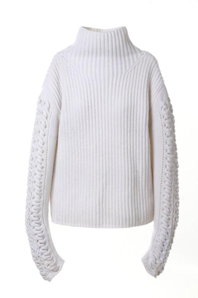 Модный серый свитер с длинными рукавами тренд сезона из коллекции TSE.