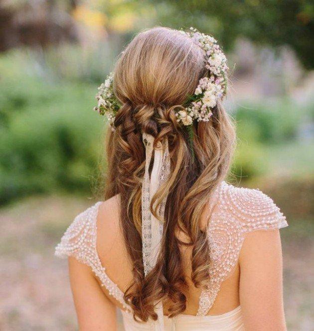 16 новых свадебных причесок: летний вариант укладки
