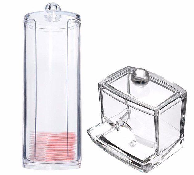 Специальные коробки для ватных палочек и дисков из стекла