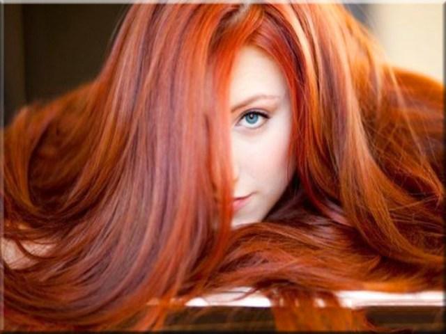 На фото: трендовый рыжий оттенок волос осень-зима 2016-2017.