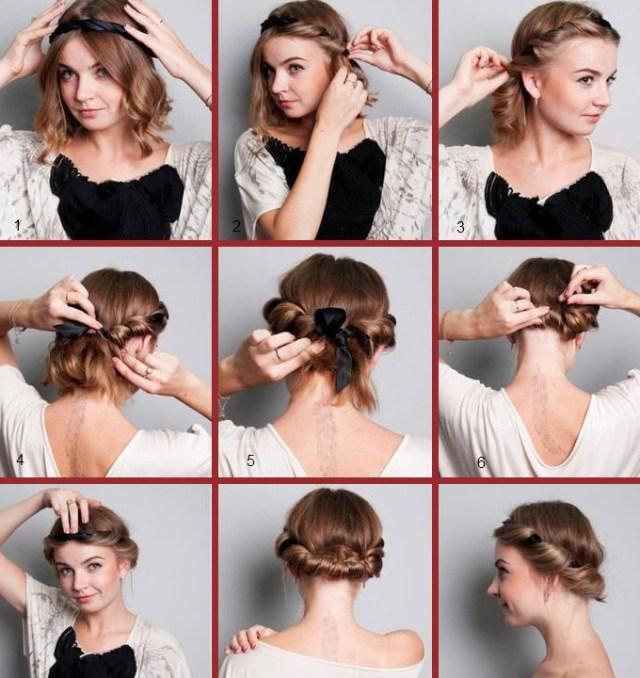 Вариант третий – Греческая прическа с повязкой. Вариации – Headband hairstyles.