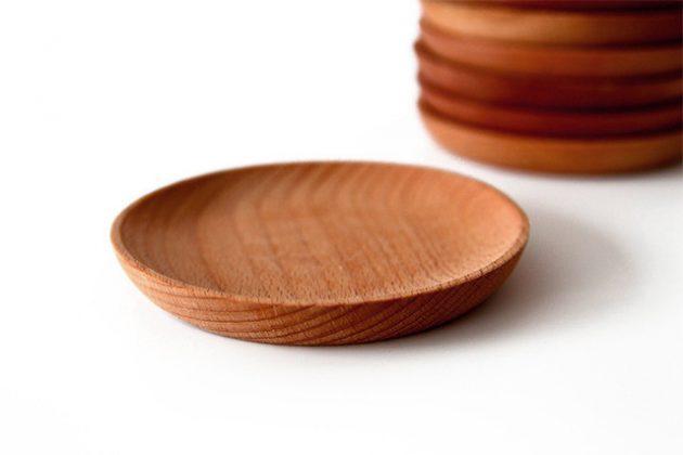 Деревянные тарелочки