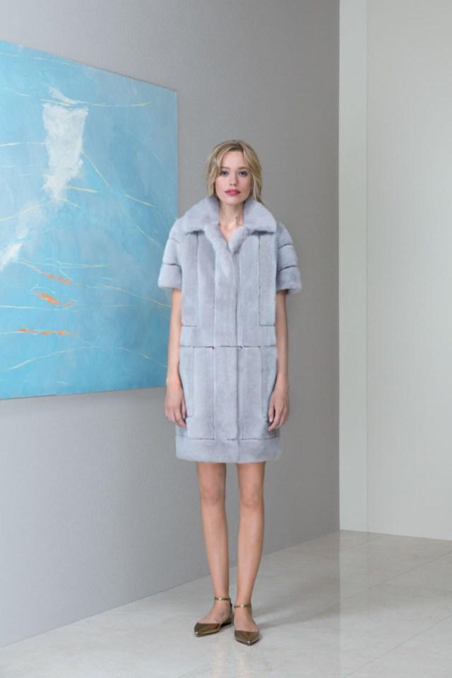 Модная эффектная шуба 2017 с укороченными рукавами фото обзор коллекции Emil-Shabaev.