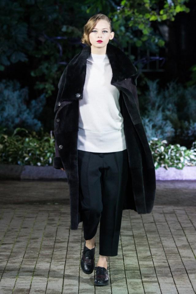 Модная шуба 2017  из коллекции Tegin.