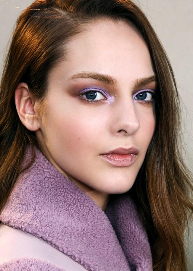 Вечерний макияж 2017: фиолетовые тени для глаз