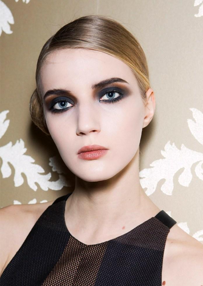 Черно-коричневый вечерний макияж 2017 для глаз