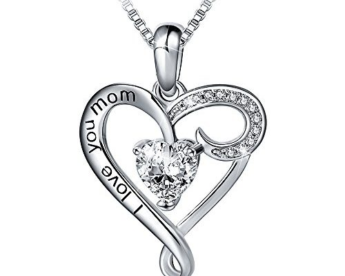 """Mother's Birthday Gift""""I Love You Mom"""" S925 Sterling"""