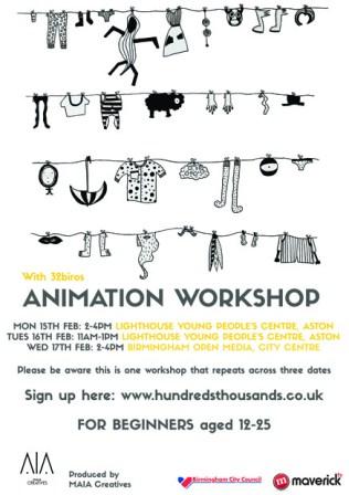 HT Animation Workshop E-Flyer