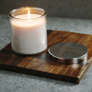 The Just Slate Company – Highland Collection Scented Candle in Glass Jar