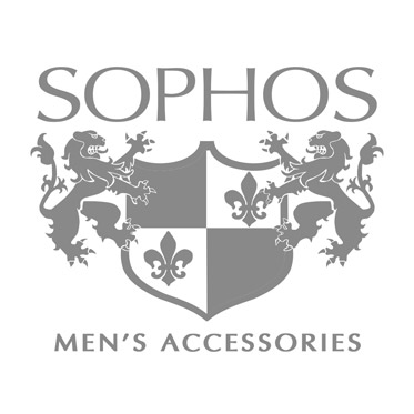 Sophos – Chrome and Black Centre Stripe with Crystal Stones Cufflinks in Gift Box