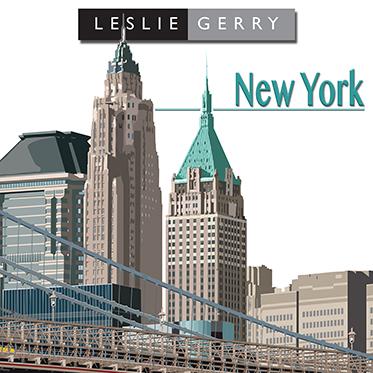 Leslie Gerry – New York 4 Piece Table/Placemat Set