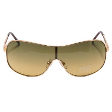Guess – Gold Metal Aviator Shield Sunglasses