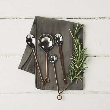 The Just Slate Company – Set of 4 Copper Condiment Spoons in Presentation Box