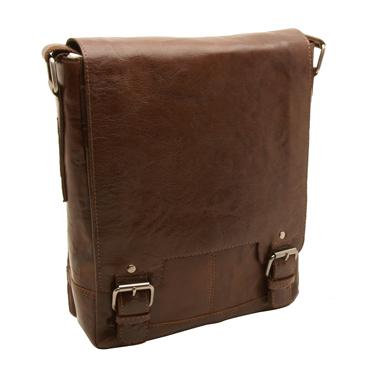 Ashwood – Tan Crumble Leather Kingston A4 Messenger Bag with iPad Pocket