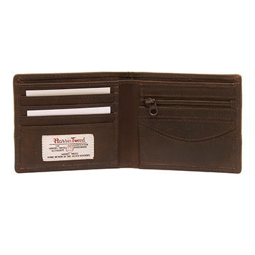 The British Bag Company – Breanais Harris Tweed Wallet with Brown Leather Trim