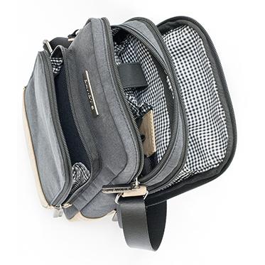 Davidt's – Grey Medium Messenger/Body Bag from the Mood & Moov Range