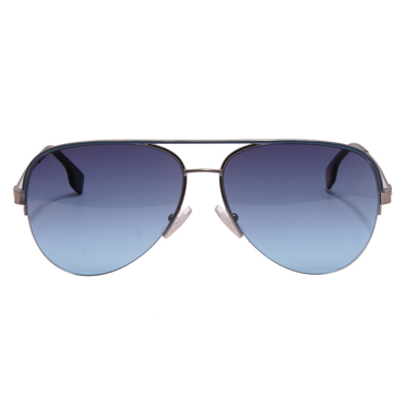 Hugo Boss Orange – Semi Matte Ruthenium Aviator Sunglasses