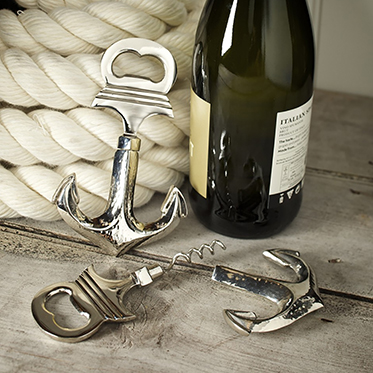 Culinary Concepts – Anchor Bottle Opener with Integral Corkscrew in Gift Box