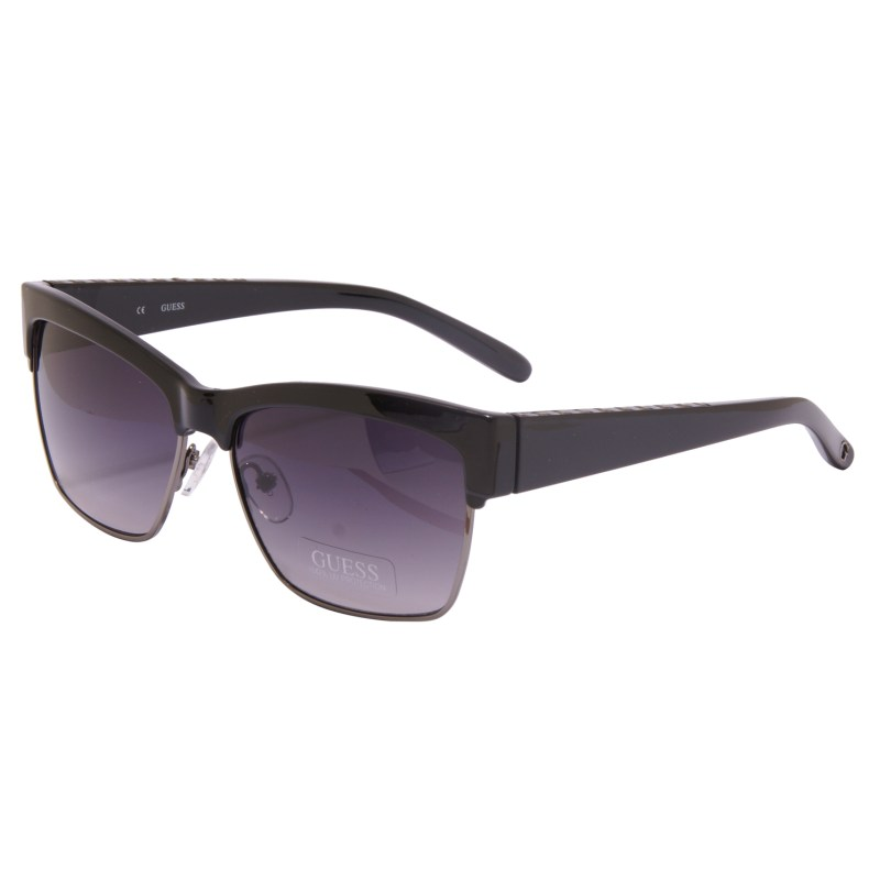 Guess – Black Square Clubmaster Classic Style Sunglasses