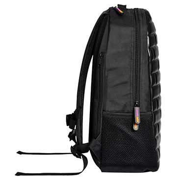 Urban Junk – Brixi Black 3rd Dimension Embossed Rucksack/Backpack