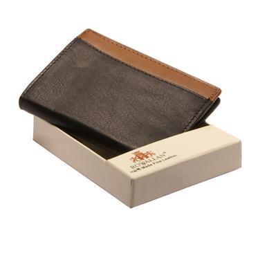 Rowallan – Black Full Grain Soft Cowhide Leather Credit Card Wallet