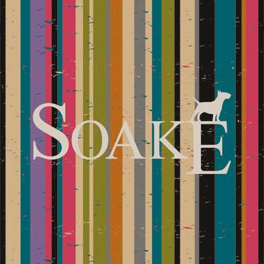 "Soake – Galleria Black & White "" London "" Folding Automatic Umbrella"