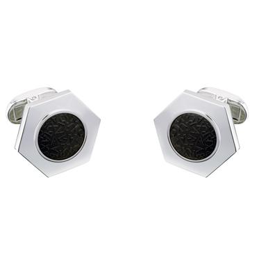 Jos Von Arx – Arx Hexagonal Shaped Cufflinks with Arx Black Logo Design
