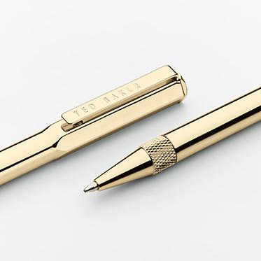 Ted Baker – 24k Gold Plated Premium Ballpoint Pen in Presentation Gift Box