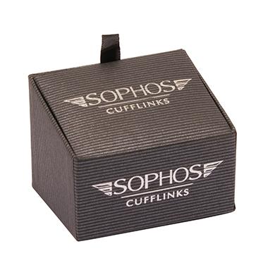 Sophos – Multi Coloured Spot Oval Cufflinks in Gift Box