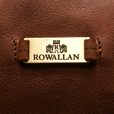 Rowallan – Tan Grained Cowhide Leather Travel Bag/Holdall with Shoulder Strap