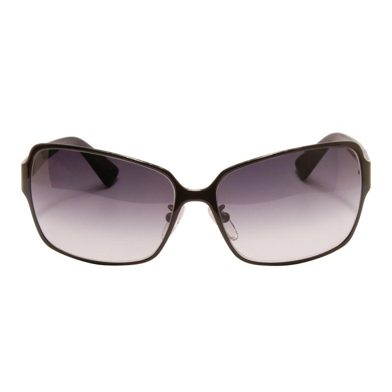 Fendi – Shiny Black Classic Style Sunglasses with Rhinestone Logo and Case