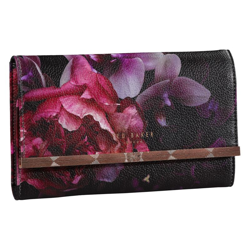 Ted Baker – Black Splendour Jewellery Roll/Wrap with Rose Gold Trim