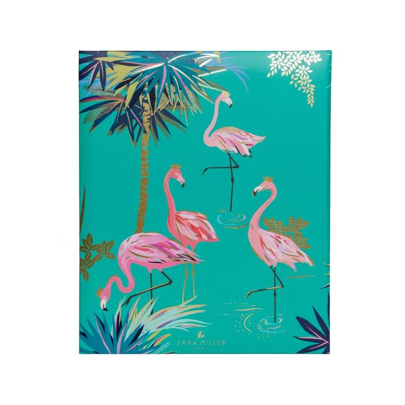 Sara Miller – Pink Flamingo & Exotic Green Tahiti Design Recipe Book/Journal