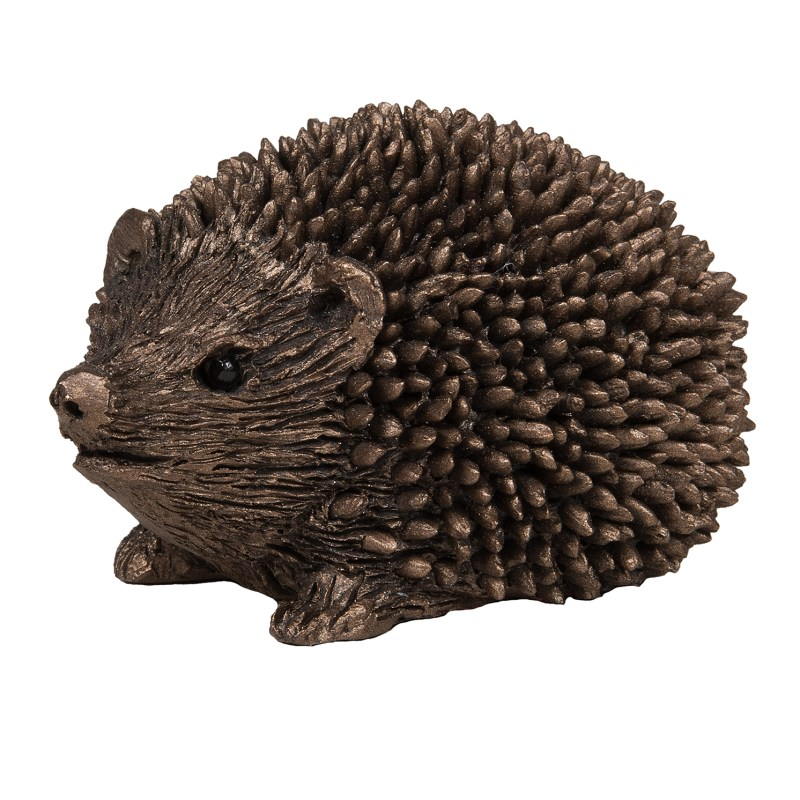 Frith Sculpture – Prickly Hoglet Walking in Bronze Resin by Thomas Meadows