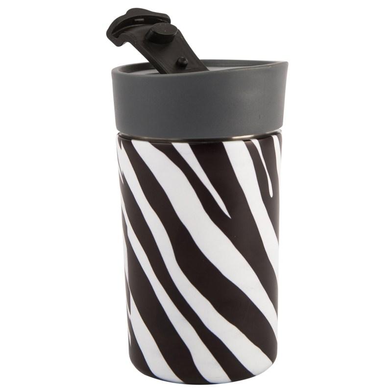 Navigate – 'Madagascar' Cheetah Insulated Lunch Tote Bag/Zebra Stripe Travel Mug