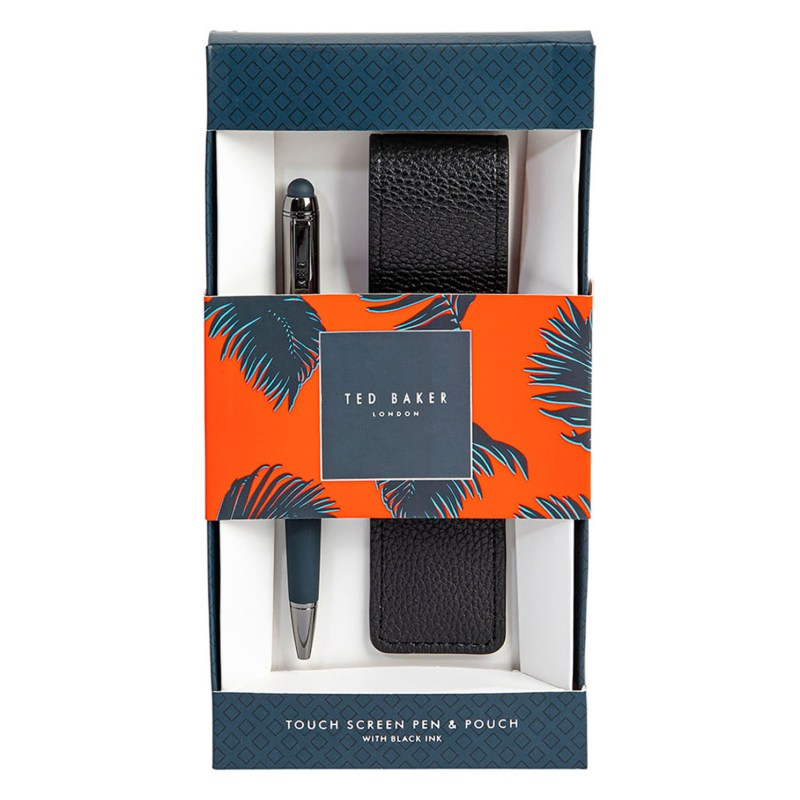 Ted Baker – Navy Touch Screen Soft Pen with Black Case in Gift Box