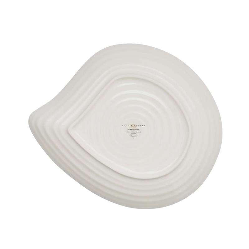 Sophie Conran for Portmeirion – Set of 4 White Shell Shaped Plates in Gift Box