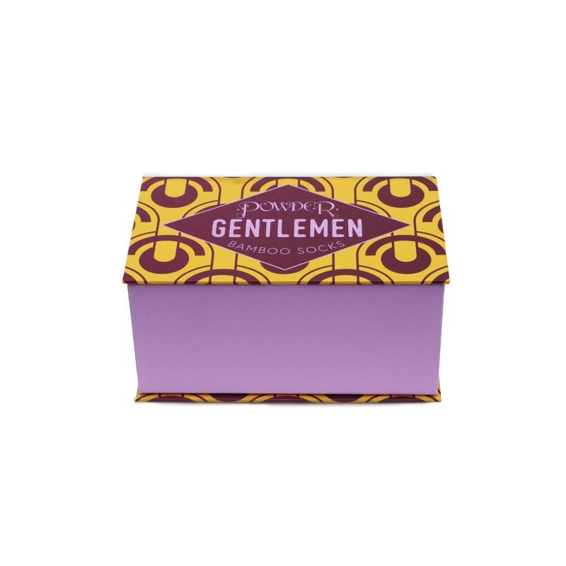 Powder – Set of 3 Pairs of Art Deco Scallops Ankle Socks in Presentation Box