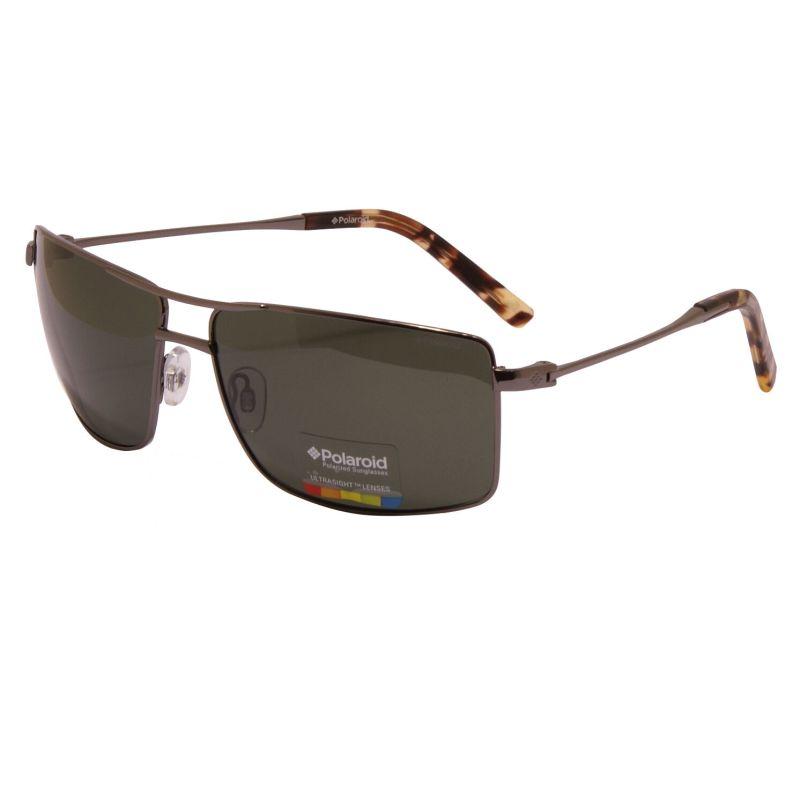 Polaroid – Polarised Gunmetal Contemporary Classic Style Sunglasses with Case