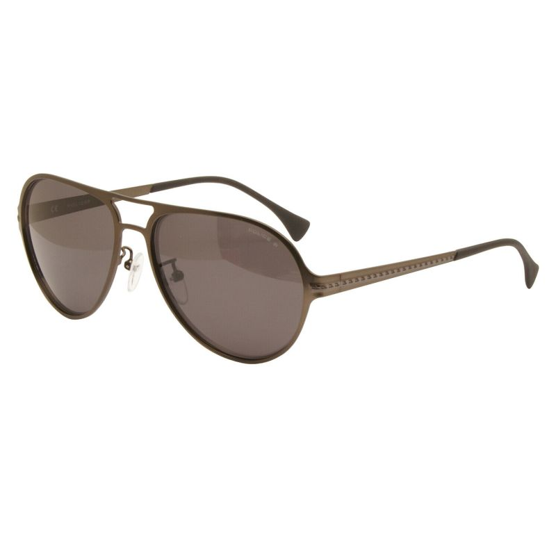 Police – Brown Guardian 1 Pilot Style Sunglasses with Case and Box