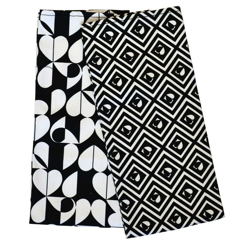 Beau & Elliot – 'Monochrome' Set of 2 Tea Towels & Matching Double Oven Gloves