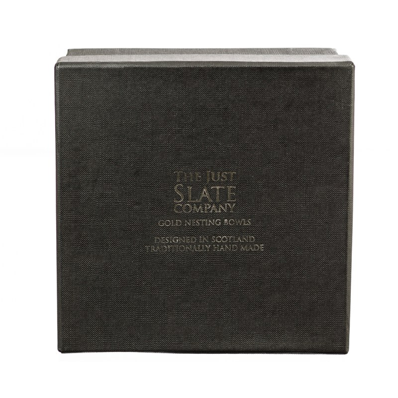 The Just Slate Company – 2 Gold Nesting Bowls in Presentation Gift Box