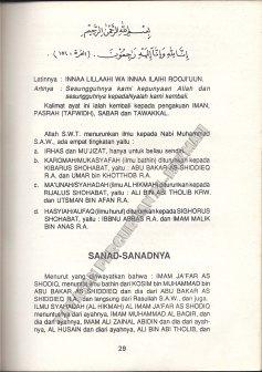 29. Sanad-Sanadnya 1