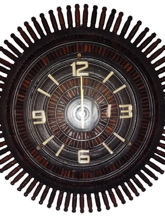 Wooden Wall Clock Dark Brown