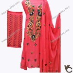 Hand made embroidery for women in pink
