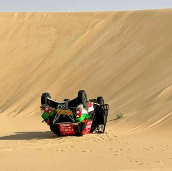 Sharqiya Baja 2021 | SS2, Yazeed Al Rajhi & Michael Orr Crash