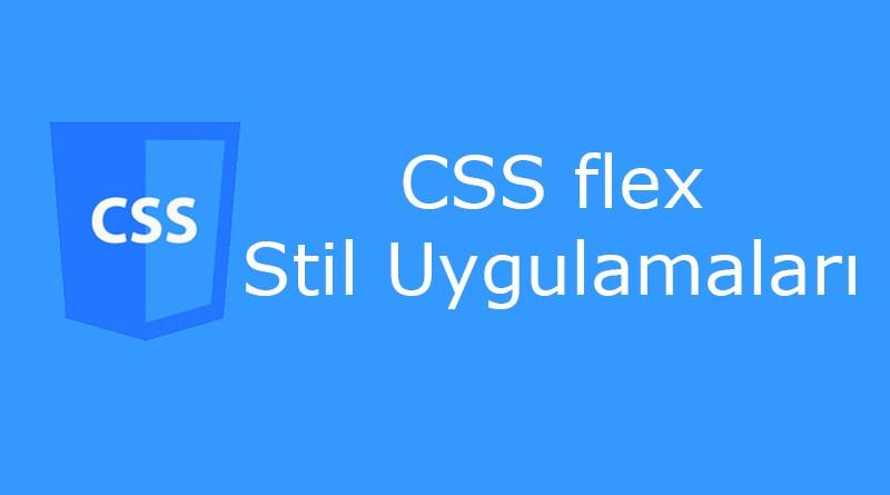CSS flex özellikleri